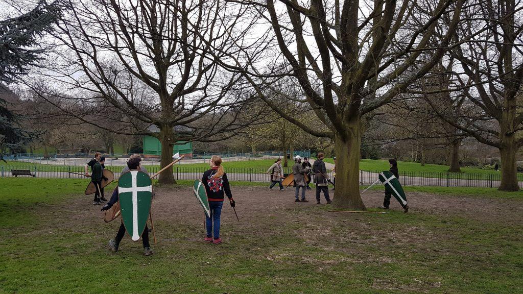 Swordplay at Nottingham's Arboretum. copyright Paul Hose